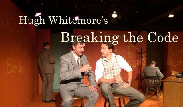 Nigel Rogers and Christian Gonzalez in a scene from Breaking the Code.  Photo courtesy Langhorne Players